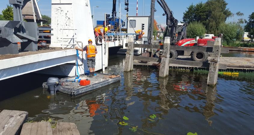 Werkzaamheden aan de sloterbrug